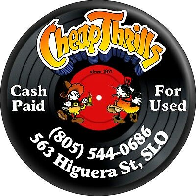 31088 Cheap Thrills Record Store San Luis Obispo California SLO CA Fridge Magnet - Cheap Store