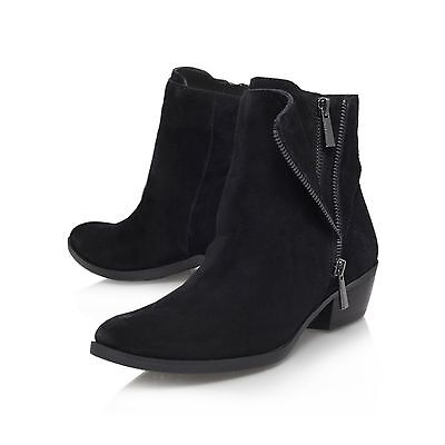 VINCE CAMUTO BOOTS / BLACK / SUEDE / ANKLE  /  UK 3 EU 36 .. DISCOUNT IN - Discount Party Store