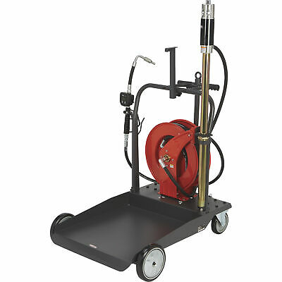 Ironton Air-operated 51 Oil Pump Kit- With Cart And Hose Reel 3.7 Gpm