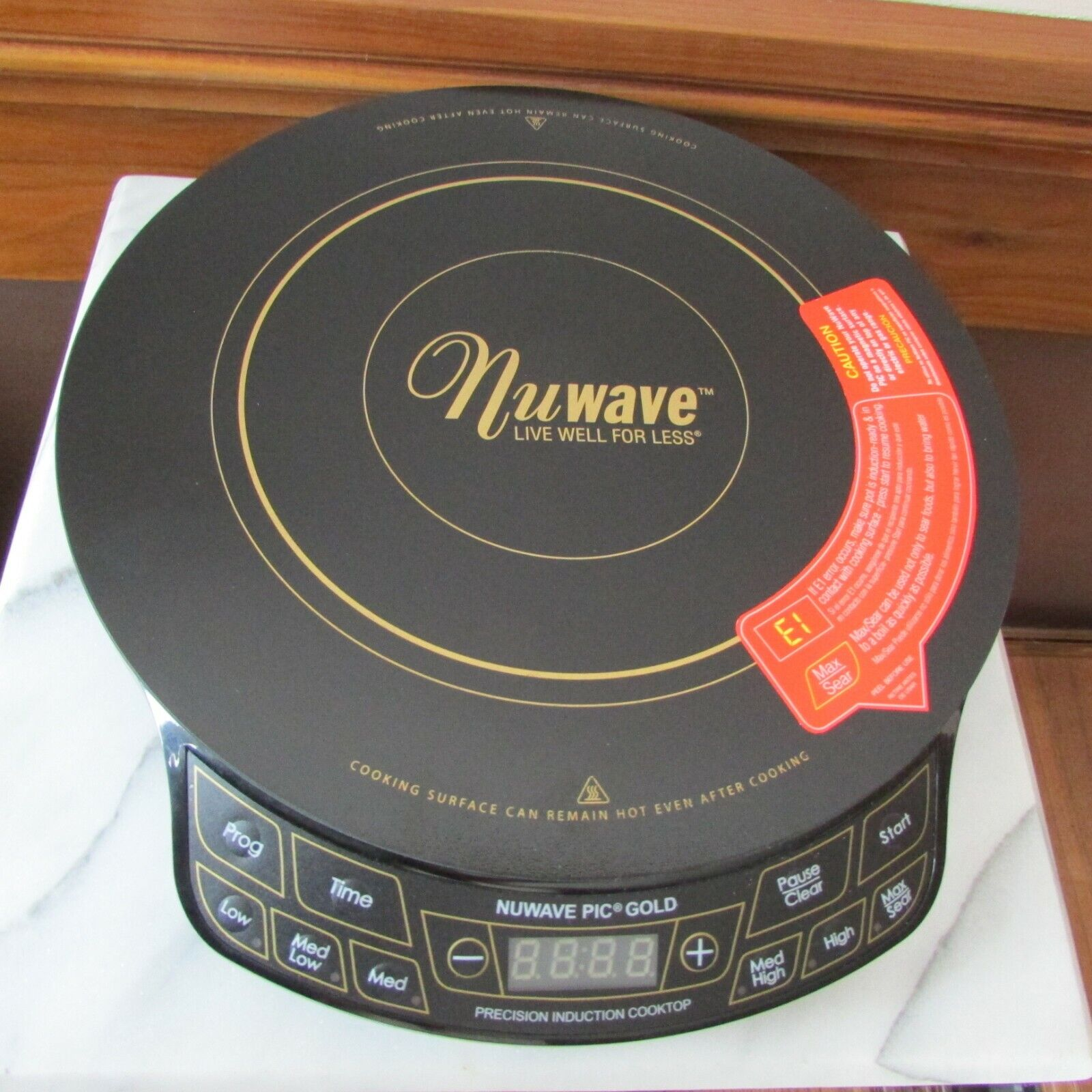 NuWave 30201 PIC Induction Cooktop Gold New no box