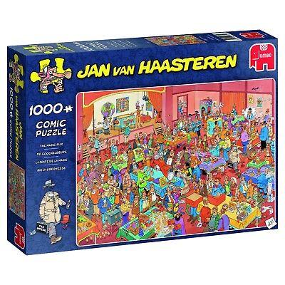 Jan van Haasteren Puzzle 1000 Piece JVH Cartoon Jigsaw  The Magic Fair Jumbo d'occasion  Expédié en Belgium