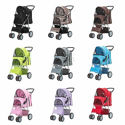 Pet Pushchair – Dog Puppy Cat Pram – Travel Buggy Stroller for Animals Jogger
