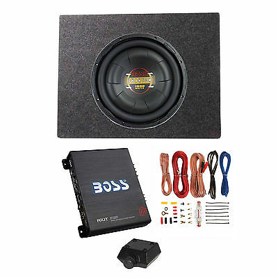 $114.95 - Boss Audio 12 Inch 1000W Subwoofer + Shallow Enclosure + Amplifier & Wire Kit