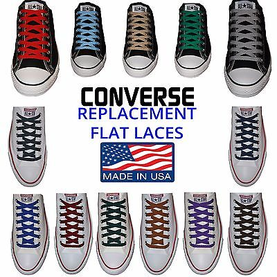 Flat Premium Laces   Perfect Converse Fit   Made In Usa   Buy 3  Get  5 Off  New