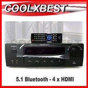 NEW 5.1 AV HOME THEATRE RECEIVER AMPLIFIER 660W BLUETOOTH 4 + 1 HDMI KAHTS51