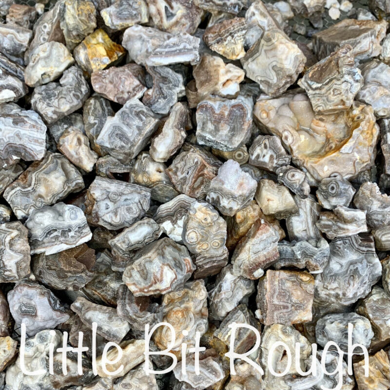 1lb Crazy Lace Banded Agate Rocks Rough Natural Cabbing Tumbling Lapidary GA