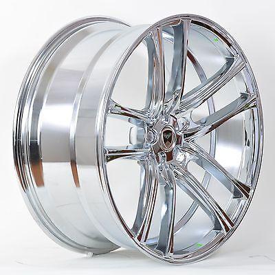 4 GWG Wheels 18 inch Chrome ZERO Rims fits 5X108 ET40 VOLVO V70 T5 2000 - 2005