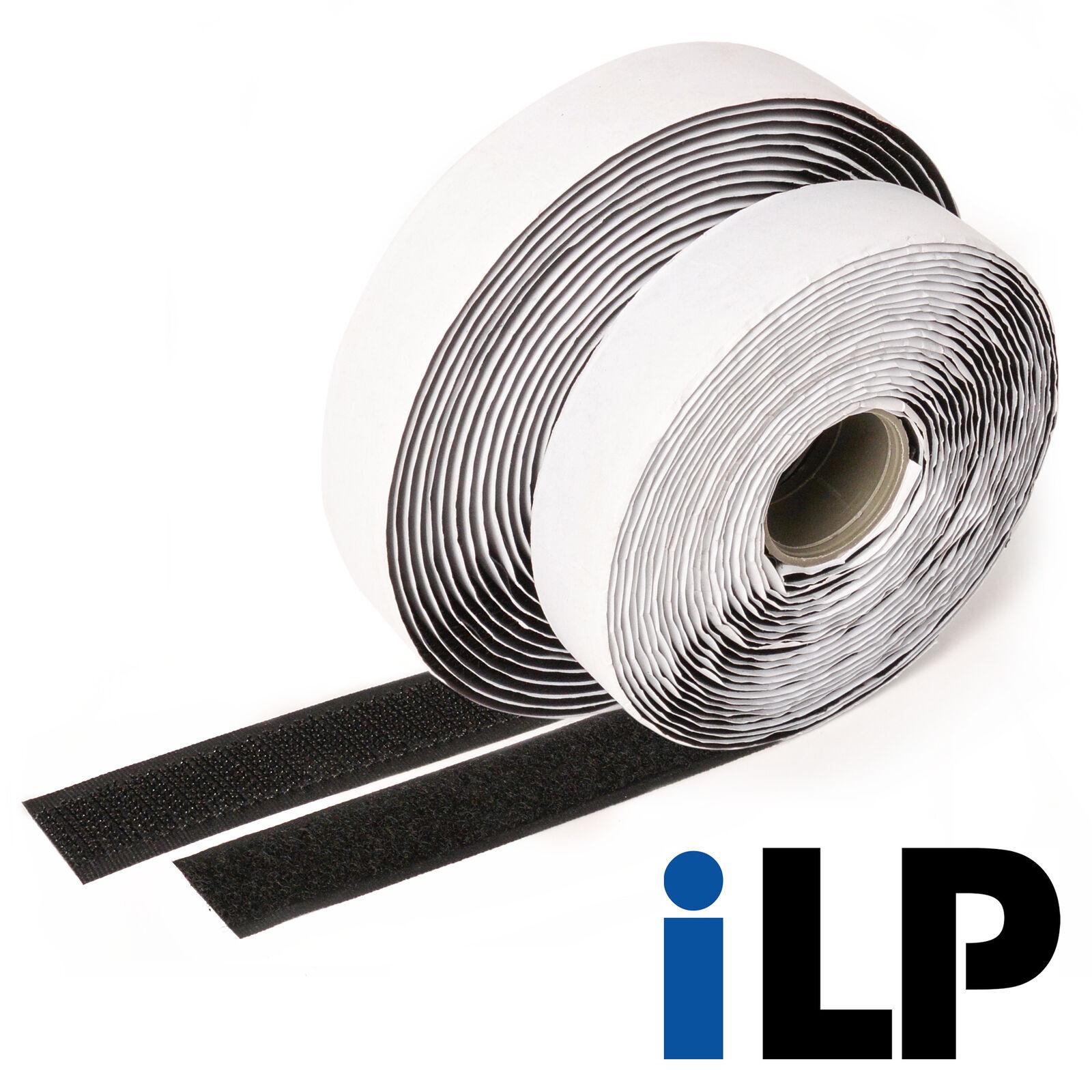 Klettband schwarz selbstklebend 5 Meter lang 20 mm breit extra starke Fixierung