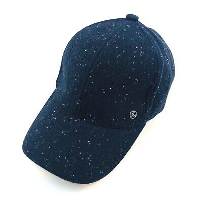 Paul Smith PS 100% Wool Adjustable Speckled 6 Panel Ball Cap Hat Mens OS NWT $95