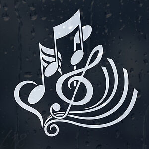 Treble clef car graphic decal vinyl adhesive classic music notes sticker - Sol vinyle autocollant ...