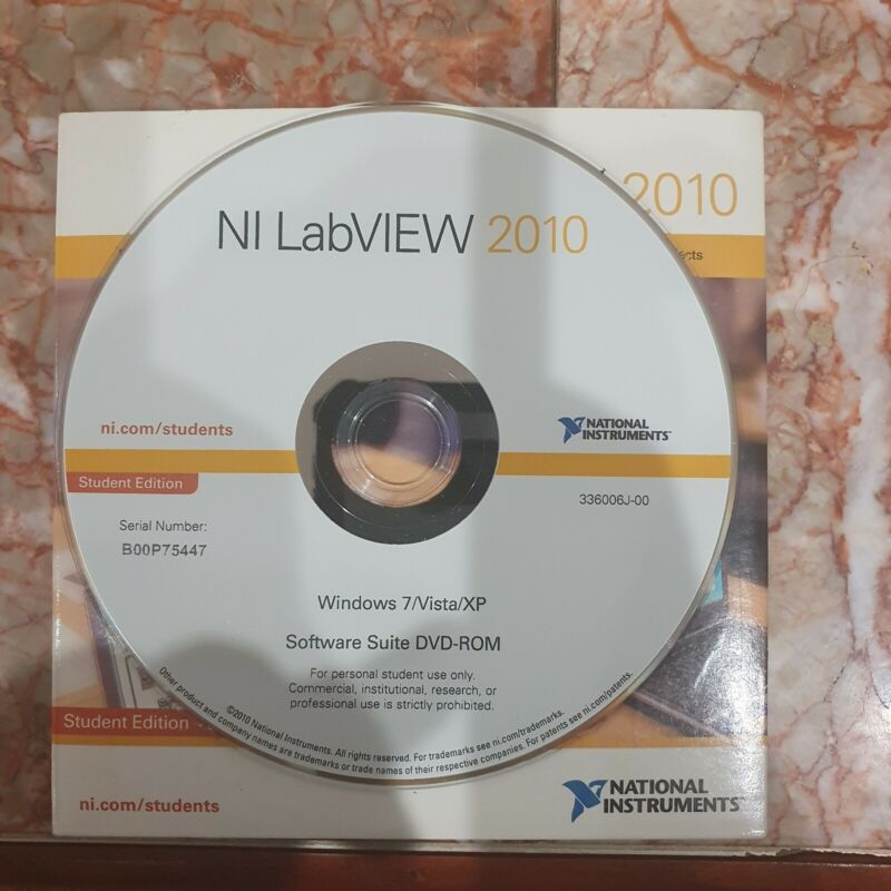 National Instruments NI LabView 2010 student edition DVD ONLY