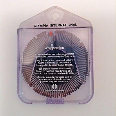 Olympia International Original Typewheel Typewriter Whisper Disc 808 1012 79802
