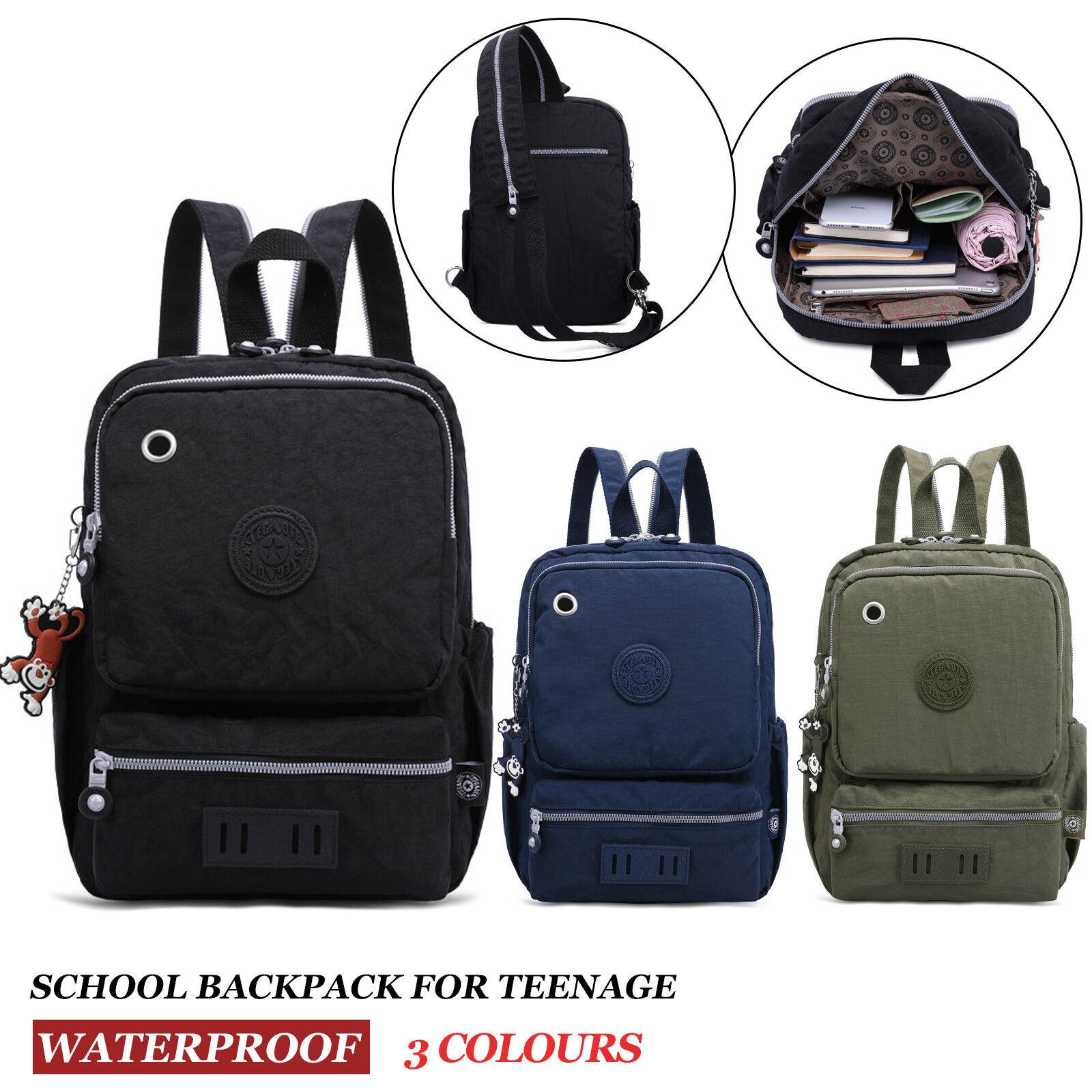 Nylon Mini Backpacks Women School Bag for Teenage Girls Fema