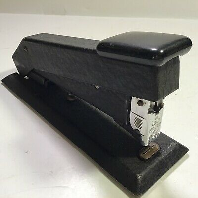 Vintage Black Metal Bostitch Stapler Business Office Desk Heavy Duty Large Usa