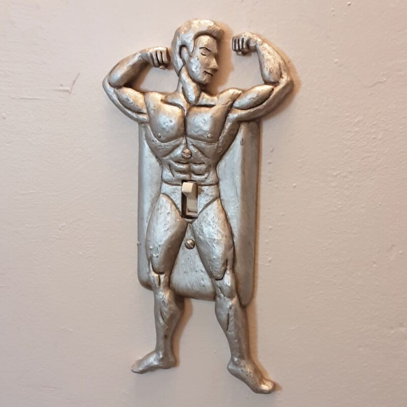 Novelty Muscle Man Naughty Light Switch Cover Plate - New in Box