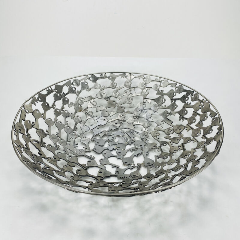 Decorative Bowl Welded Keys 15.5 inches across