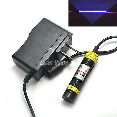 405nm 100mw Blueviolet Focus Line Glass Lens Laser Diode Module 5v Adapter
