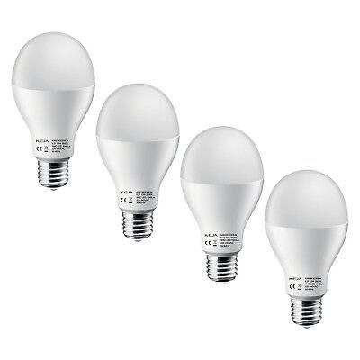 4x E27 LED Glüh-Birne Spar-Lampe ⚡Energieeffizienz A+ Leuchte Matt 13W warmweiß ()