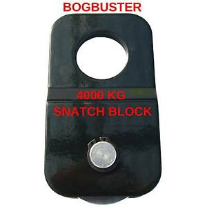 BOGBUSTER 4000 KG SNATCH BLOCK 4x4 OFF ROAD RECOVERY WINCH STRAP Beldon Joondalup Area Preview