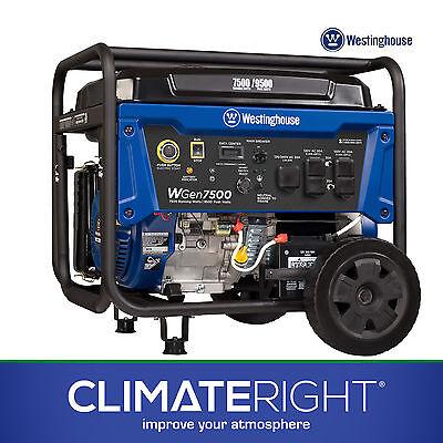 Westinghouse WGen7500 Portable Gas Generator | 7500/9500 Watts & Electric Start