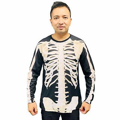 Skeleton Long Sleeve Shirt Costume (Skeleton halloween costume Long sleeve Men's)