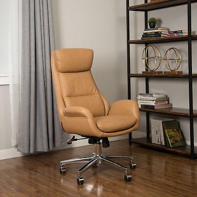 Glitzhome Pu Leather High Back Office Chair Ergonomic Swivel Computer Desk Seat