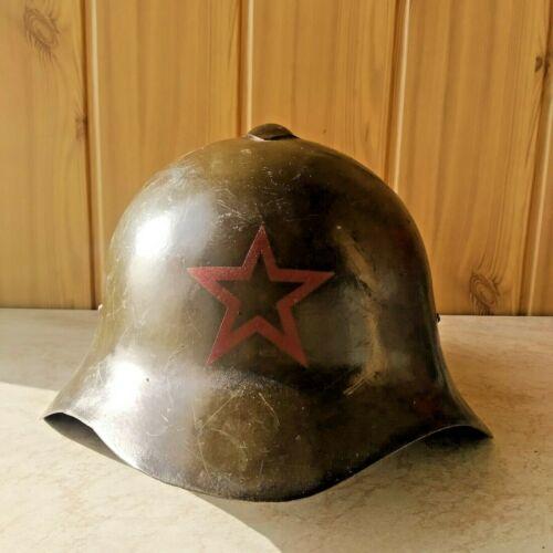Hasan Soviet Helmet SSh-36 The restored original Summer 1941 RKKA WW2 WAR