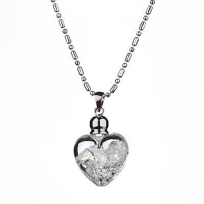 Yves Camani Damen Collier Anhänger Glas Herz Mit Purem Silber Kette Neu