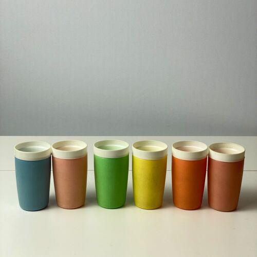 6 VINTAGE BOLERO - Therm-O-Ware Insulated Plastic Tumbler RETRO multicolored set