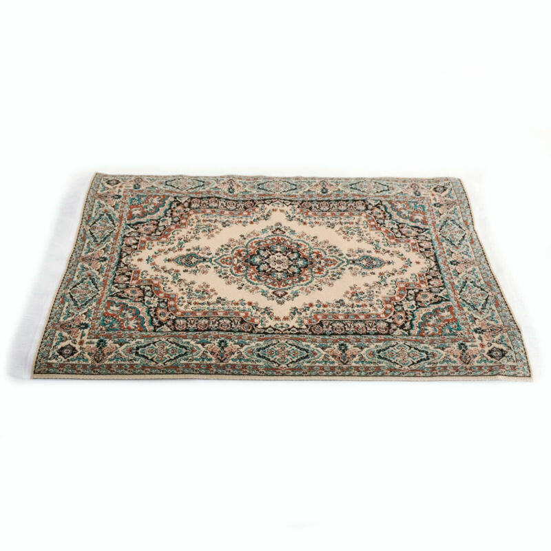 Dollhouse Decor Vintage Weave Carpet Miniature Rug Blanket Accessories A