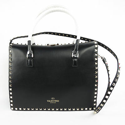 New! Valentino Rockstud Black Handbag