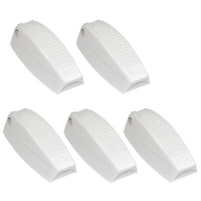 Gepäck-türschloss (5x Weiß Plastik Gepäck Türschloss Halter Clip für Rv Anhänger Wohnmobil)