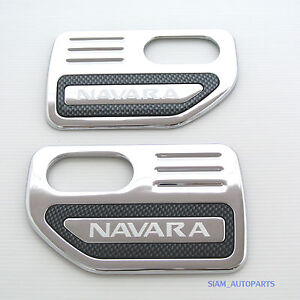 2-x-CHROME-SIDE-VENT-TRIM-NISSAN-NAVARA-D40-STX-SX-2005-2009-06-07-08-09