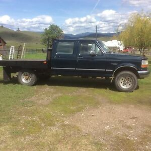 1997 Ford diesel 250 heavy duty 4x4 flat bed
