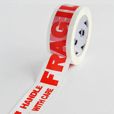 Fragile Carton Sealing Printed Packing Tape 2 Inch x 110 Yards 2 Mil (36 Rolls)