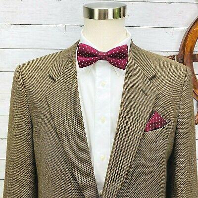 Giorgio Armani Collezioni Brown Wool 1 Button Sport Coat Blazer Jacket Mens 44L