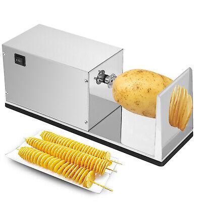Cortadores de Patatas y Vegetales en Espiral Eléctrico 10W Acero Inoxidable