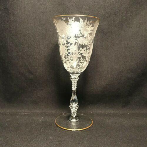 Cambridge 3121 Wildflower Gold Trim Water Goblet (4)