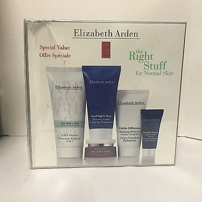 Elizabeth Arden Right Stuff For Normal Skin  Intervene Visible Difference Ect