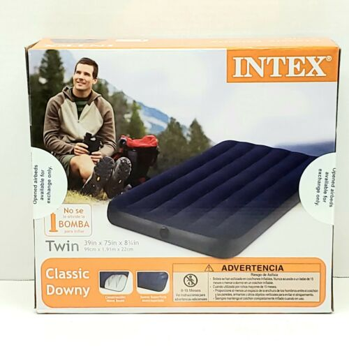 Intex Twin Size Classic Downy Inflatable Air Bed Mattress 68