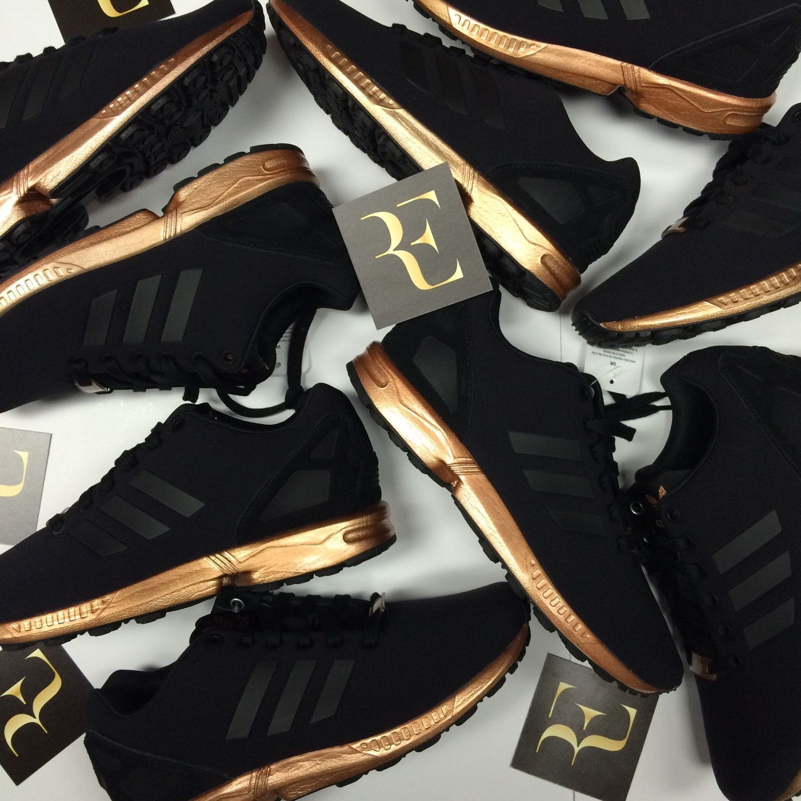 e95afea1caf7 usa womens adidas zx flux core black copper rose gold bronze s78977 limited  edition 1696d 12919