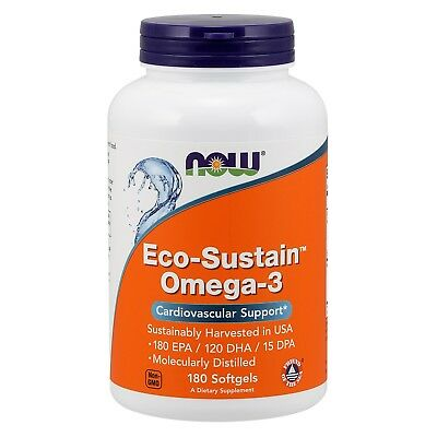 NOW Foods Eco-Sustain Omega-3, 1000 mg, 180 Softgels