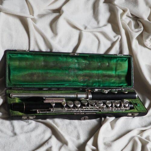 Antique Saxony German Flute Classic Grenadil Wood Wind Instrument Philharmonic