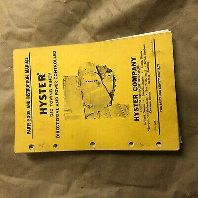 Hyster Winch Parts Catalog Instruction Manual D6d Cat Dozer Nice D6