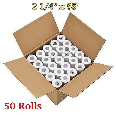 50 Rolls Case 2 14 X 85 Thermal Cash Register Credit Card Pos Receipt Paper