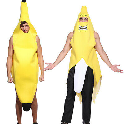 Comic Con Outfit (Unisex Banana Suit FUNNY NOVELTY Yellow Costume Comic Con Party Carnival)