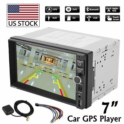 "Car Stereo GPS Navigation Radio Player Double Din WIFI 7"" MP5 Player Android 6.0"