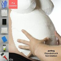 Purbay Calco In Gesso Pancia Bambino Set Lisciare Impronta Di Calchi Bendaggio -  - ebay.it