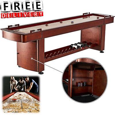 Shuffleboard Table 9 Feet Classic Solid Wood Playroom Cabinet Vintage Barrington