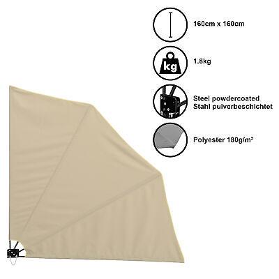 Casa.pro Abanicos de Balcón Privacidad Beige Toldo Lateral Sol Viento Protección